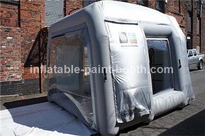 sliver grey inflatable spray booth for car garage small paint booth : inflatable car tent - memphite.com