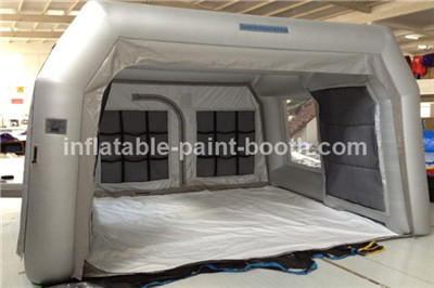 Sliver Grey Inflatable Spray Booth For Car