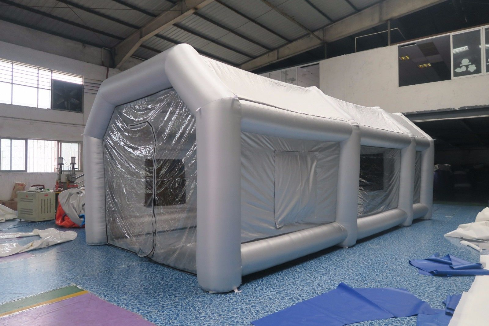 Oxford Car And Truck >> Inflatable Paint Booth Fireproof Portable Giant Car Workstation Oxford Cloth - Gray